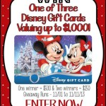 Who wants to win $1,000 in Disney Gift Cards!
