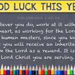Prayers for the Week – Back To School